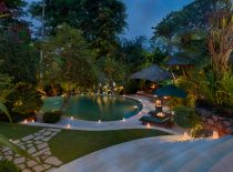 Villa Bougainvillea, Pool at Night