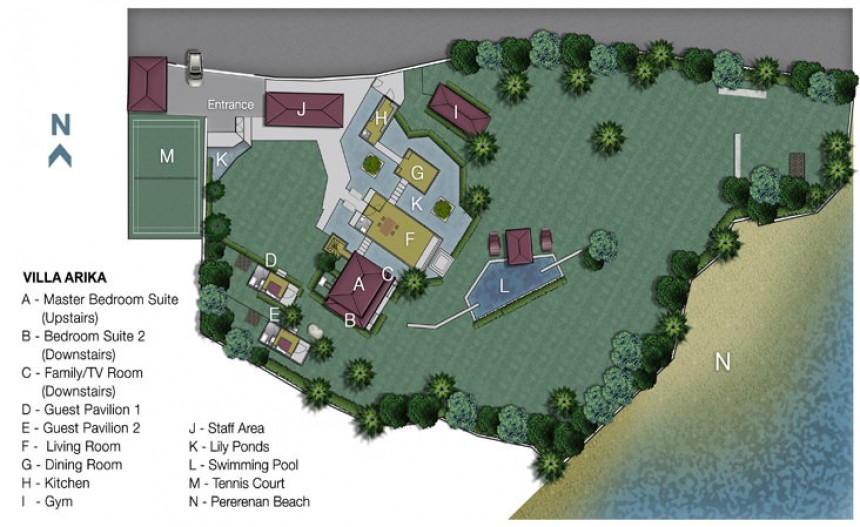 Villa Arika Floor Plan