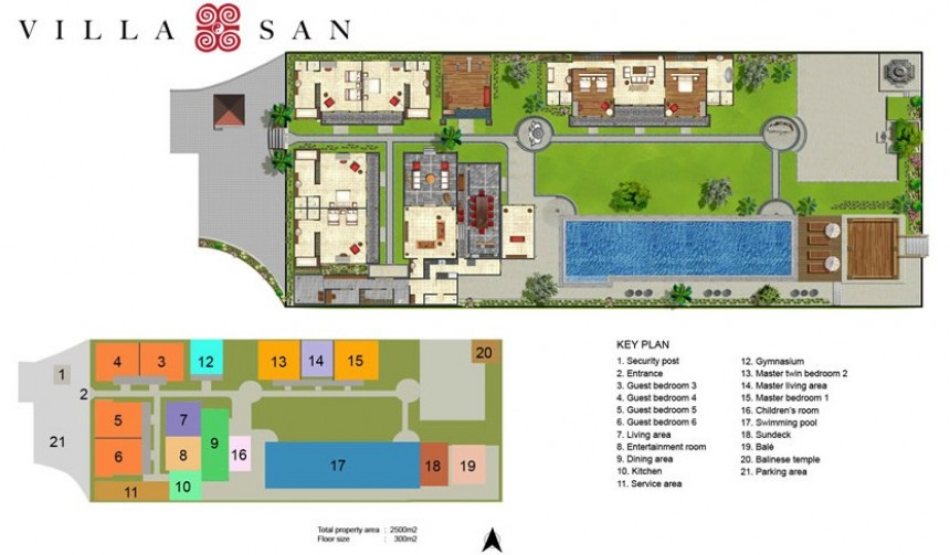 Villa San Floor Plan