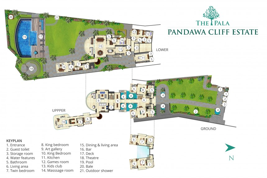 Villa The Pala Pandawa Cliff Estate Floor Plan